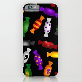Halloween Colorful Candy Vibrant Pattern iPhone Case