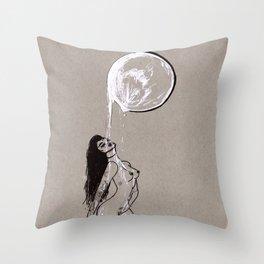 Moon Milk - Moonbathing Goddess Illustration Throw Pillow