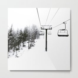 Into the White Metal Print
