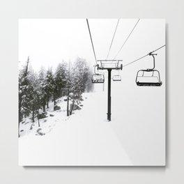 Into the White Metal Print