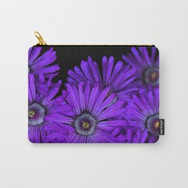 Purple succulent flowers watercolor effect Carry-All Pouch