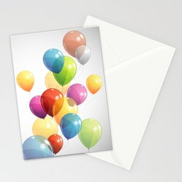 Colorful Balloons Stationery Cards