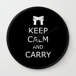 Keep Calm and Carry Wall Clock