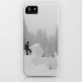 Backcountry Snow Heaven iPhone Case