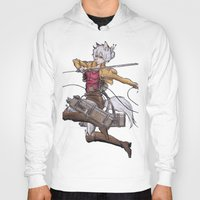 attack on titan Hoodies featuring Yoshimi Titan attack by ChiyoArts