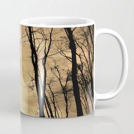 snow clouds above the wood Coffee Mug