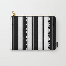 Minimalist Modern stripes black white Carry-All Pouch