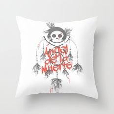 Angel de la Muerte - RED Throw Pillow