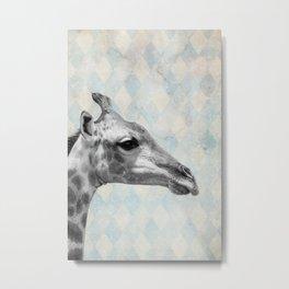 Retro Giraffe Metal Print