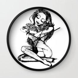 Sweet & dreamy girl Wall Clock