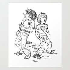 Don't Fight It, Feel It. Art Print