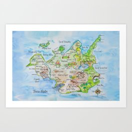 Map of the Faerie Realm Art Print