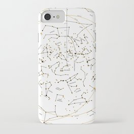 Star Chart of the Northern Hemisphere White iPhone Case