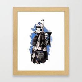 Fives last warning Framed Art Print