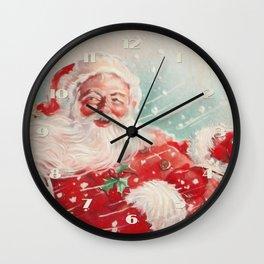 Cute vintage Santa Claus Wall Clock