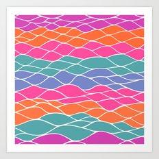 Multicolored Waves Art Print