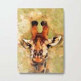 Giraffe art #giraffe #animals Metal Print