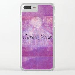 Carp Diem quote Clear iPhone Case