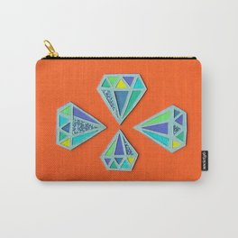 Diamonds Papercut Carry-All Pouch