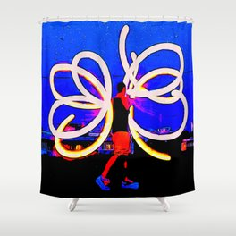 Poi Flowers Shower Curtain