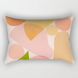Abstraction_SHAPES_COLOR_Minimalism_002 Rectangular Pillow