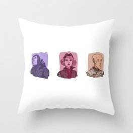 3 Space Rangers Throw Pillow