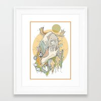 moss Framed Art Prints featuring moss by Cassidy Rae Marietta