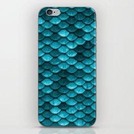 Teal Mermaid Tail Scales iPhone Skin