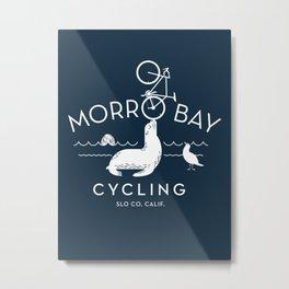 Morro Bay Cycling Metal Print