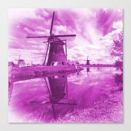 Pink Windpump Canvas Print