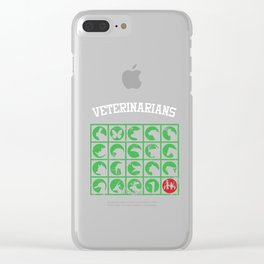 Veterinarians Vet Animal Care Veterinary Animal Lovers Gifts Clear iPhone Case