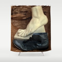 Crinkle Toes Shower Curtain