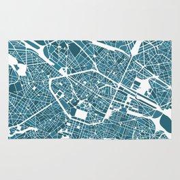 Brussels City Map I Rug