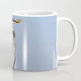 Great Blue Heron Fishing - I Coffee Mug