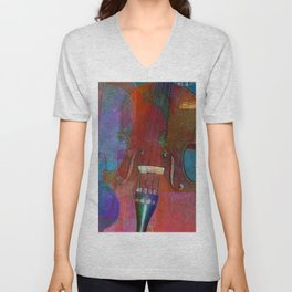 Violin Abstract Two Unisex V-Neck