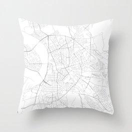 Düsseldorf, Germany Minimalist Map Throw Pillow