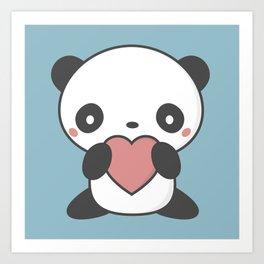 Kawaii Cute Panda Bear Art Print
