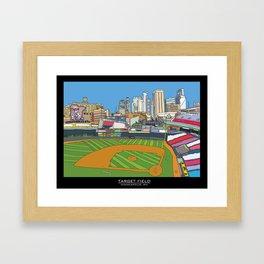 Minnesota Twins Target Field Framed Art Print