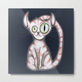 Scary cat Metal Print