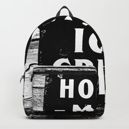 Home-made Ice Cream Vintage Sign Backpack