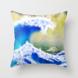 The GreatWave Interpretation Throw Pillow