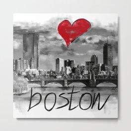 I love Boston Metal Print