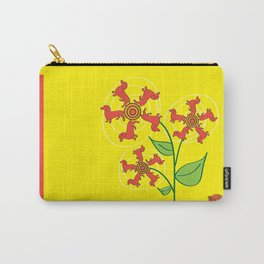 Doxie Flower Carry-All Pouch