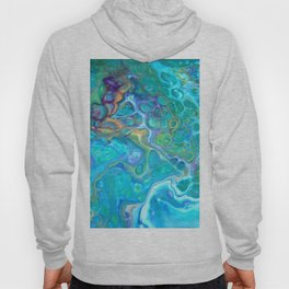 Fluid Nature - Ocean Jewels Abstract Art Hoody