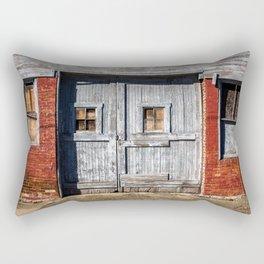 In the Door Series, wooden weather beaten textured doors Rectangular Pillow