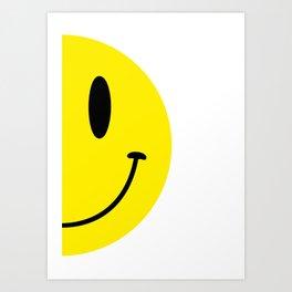 Half Smile (Left) Art Print