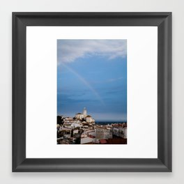 Rainbow over Cadaqués Framed Art Print