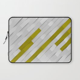 White matte plastic waves with Yellow elements Laptop Sleeve
