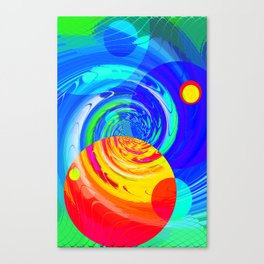 Re-Created Twisters No. 11 by Robert S. Lee Canvas Print