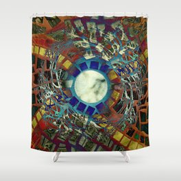 Mosaic Abstract 2 Shower Curtain